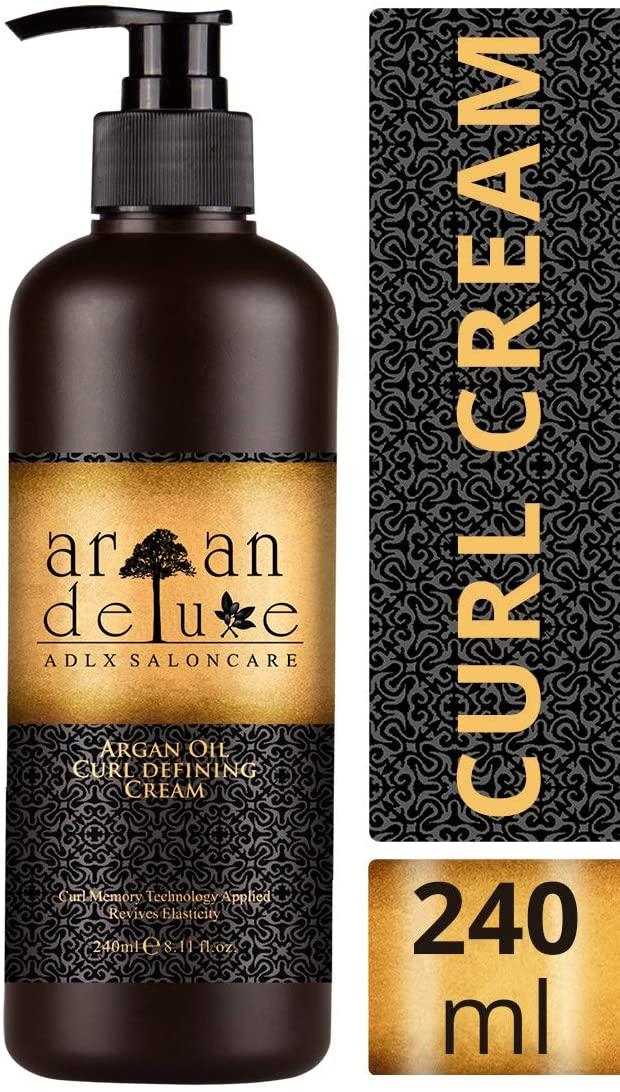 Crema de aceite de argán  definidora de rizos con acabado de peluquería Argan Deluxe
