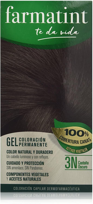 Farmatint Gel 3N Castaño Oscuro | Color natural y duradero