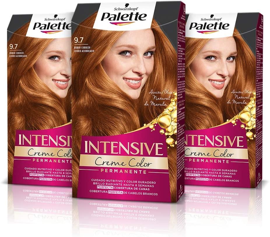 Palette Intense Cream Coloration Intensive Coloración del Cabello 9.7 Rubio Cobrizo