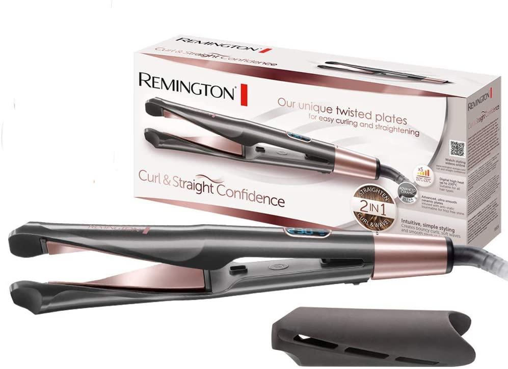 Remington S6606B Curl & Straight Confidence - Plancha Rizadora